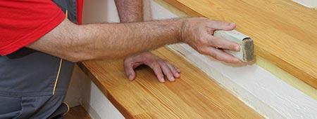 trapbekleding van hout